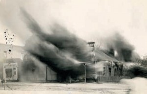 An Image of the Photography Studio of C.S. and Molly Fly Burning