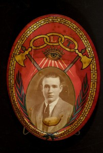 Order of Odd Fellows Emblem with Man