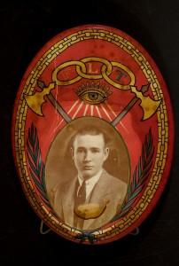 Order of Odd Fellows Emblem with Man